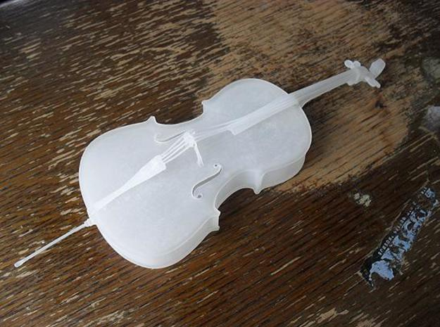 Cello 3d printed Cello on table again