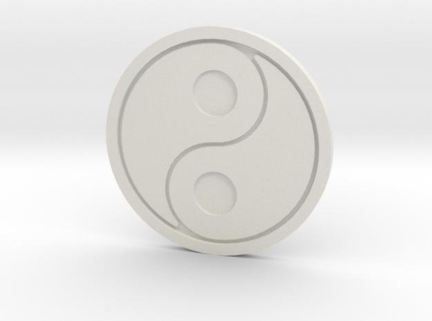 106102330丁韋中-太極杯墊 in White Natural Versatile Plastic