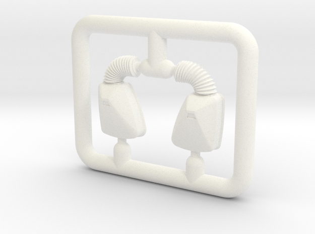 MIRROR ON SPRUE - 1 UP in White Processed Versatile Plastic