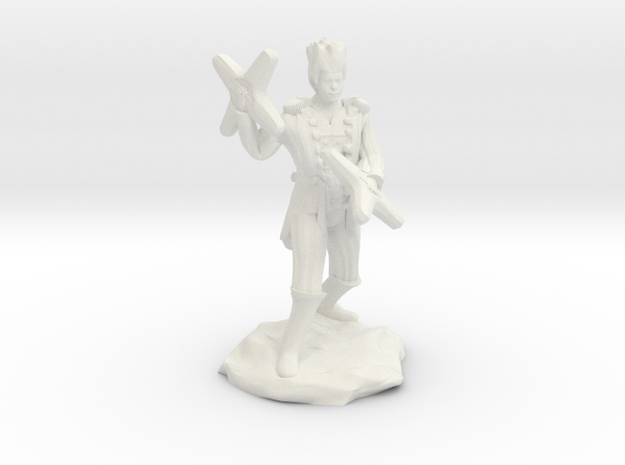 Circus Halfling Bard with Starknives in White Natural Versatile Plastic
