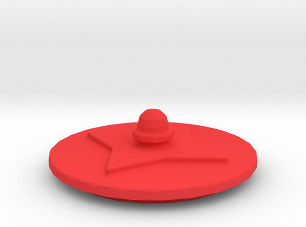 104105231 cup lid in Red Processed Versatile Plastic
