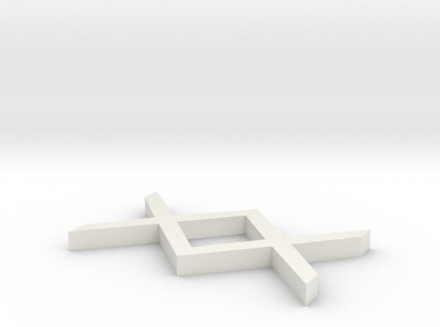 Rune_Ignuz in White Natural Versatile Plastic