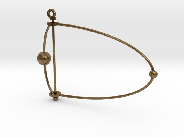 Pluto & Charon mobile in Natural Bronze (Interlocking Parts)