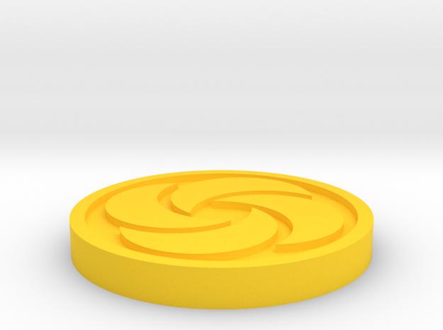 Bombos Medallion in Yellow Processed Versatile Plastic