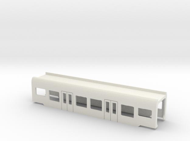 Flirt Mittelwagen Scale 0 in White Natural Versatile Plastic