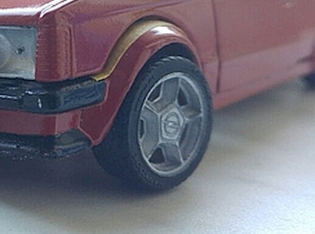 1/24 Hankook Style Tires in Smooth Fine Detail Plastic