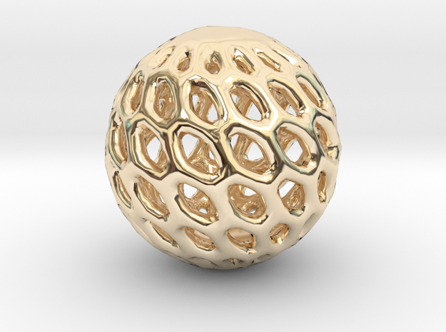 Cat Toy Ball in 14k Gold Plated