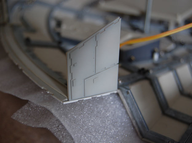 DeAgo Millennium Falcon Airlock side panels in Smooth Fine Detail Plastic