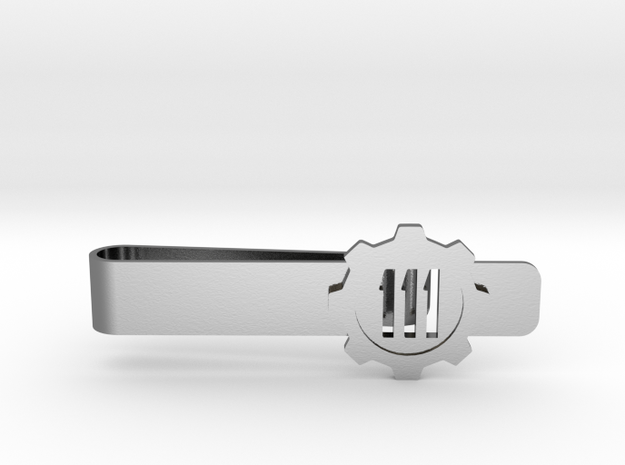 Fallout 4 Vault 111 Tie Bar in Polished Silver