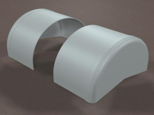 1/16 scale 40 inch Wheel Tubs in White Natural Versatile Plastic
