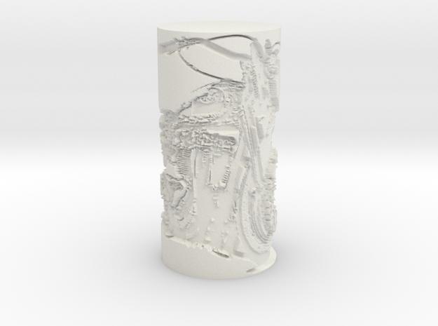 BIKE_LAMP_SHADE in White Natural Versatile Plastic