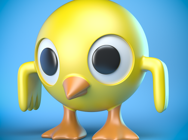 Weird chick 3d printed 3D-rendered approximation