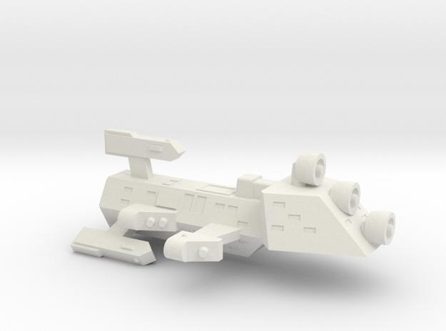 3125 Scale Kzinti Scout Drone Frigate (SDF) SRZ in White Natural Versatile Plastic