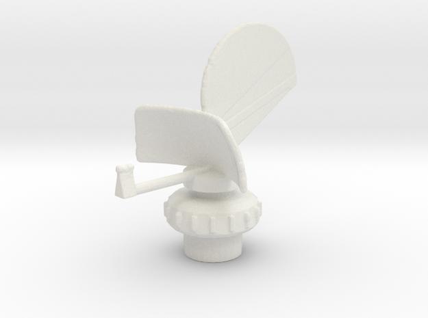 1/96 Scale AN/SPS-4 RADAR in White Natural Versatile Plastic