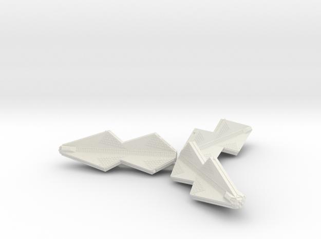 3125 Scale Tholian War Cruiser Pinwheel SRZ in White Natural Versatile Plastic
