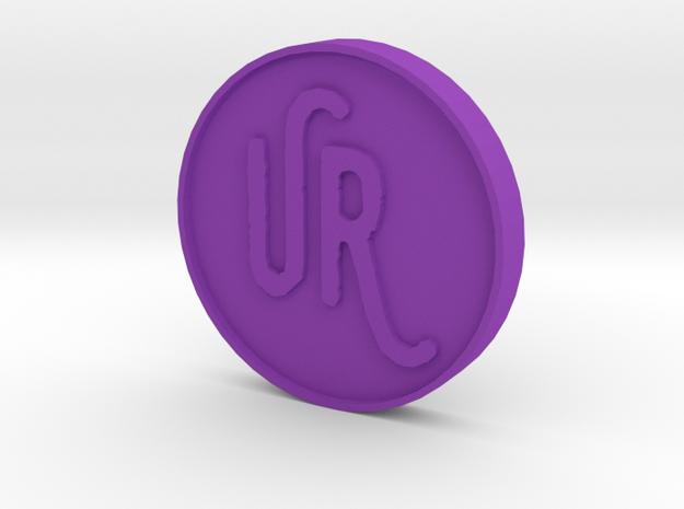 UrsulasRevenge Fan Coin in Purple Strong & Flexible Polished