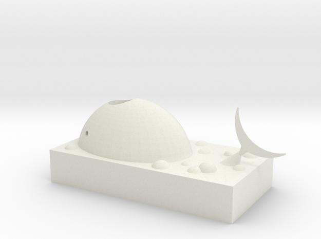 Whale paper clip storage box in White Natural Versatile Plastic