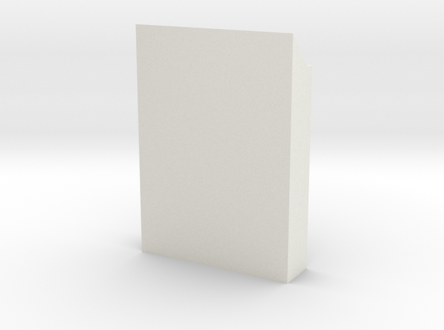 1:64 Slanted Hive Base in White Natural Versatile Plastic