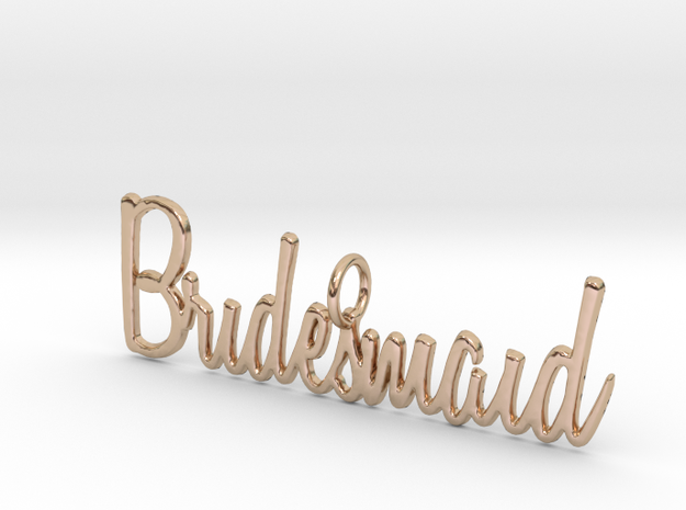 Bridesmaid Pendant in 14k Rose Gold Plated Brass