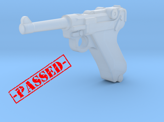Luger P08 (1:18 scale)-PASSED- in Smooth Fine Detail Plastic: 1:18