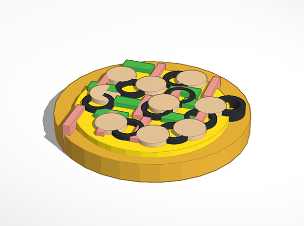 Pizza 3d printed