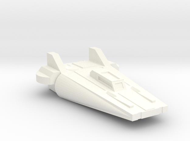 Axe Interceptor in White Processed Versatile Plastic