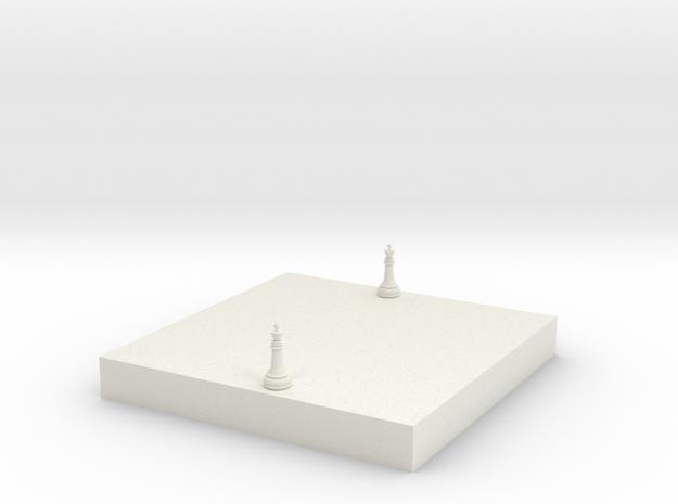 西洋棋模型 in White Natural Versatile Plastic