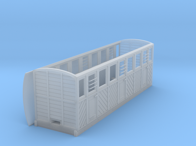RAR composite coach 3 doors/side in Smooth Fine Detail Plastic: 1:43.5