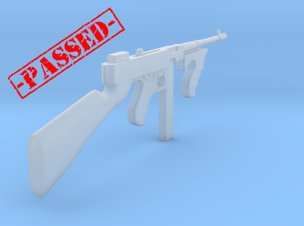 Thompson M1928 box mag (1:18 Scale) in Smooth Fine Detail Plastic: 1:16
