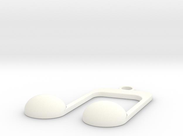 pendant6 in White Processed Versatile Plastic: Small