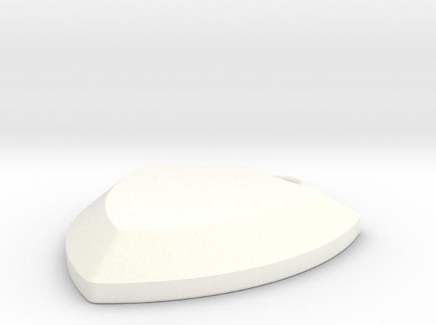 pendant10 in White Processed Versatile Plastic: Small