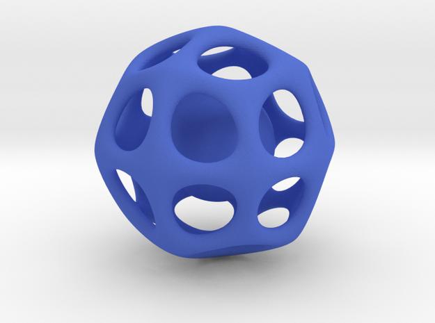 Cat toy/keychain accessory in Blue Processed Versatile Plastic: Medium