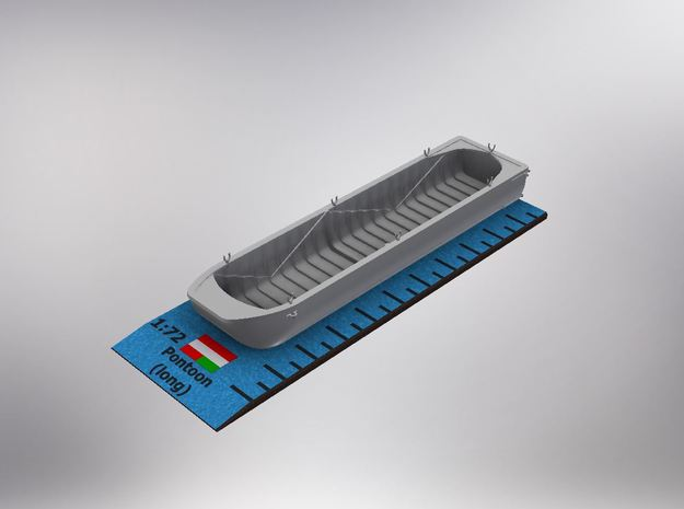 1/72nd scale Austro-Hungarian pontoon (long) in Smooth Fine Detail Plastic