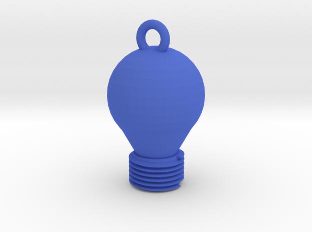 Light Bulb Pendant in Blue Processed Versatile Plastic