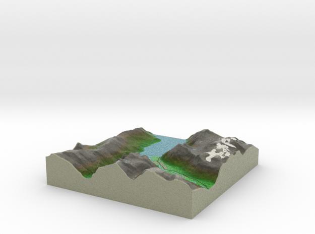 Terrafab generated model Sun Dec 24 2017 03:52:21  in Full Color Sandstone