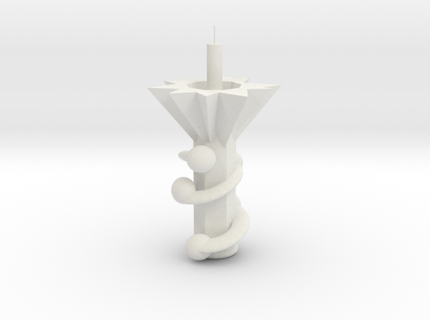 Candle Holders in White Natural Versatile Plastic