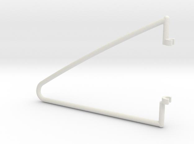 fold  hanger left in White Natural Versatile Plastic