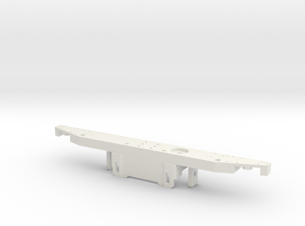 Rear bumper D90 without tow bar RC4WD Gmade in White Natural Versatile Plastic