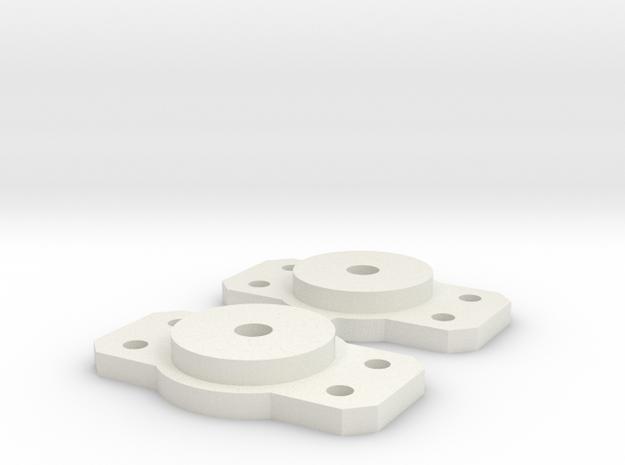 Medium Bolster for Walthers 2 axle trucks in White Natural Versatile Plastic: Medium