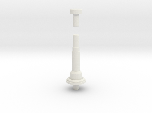 Antenna parts D90 D110 in White Natural Versatile Plastic