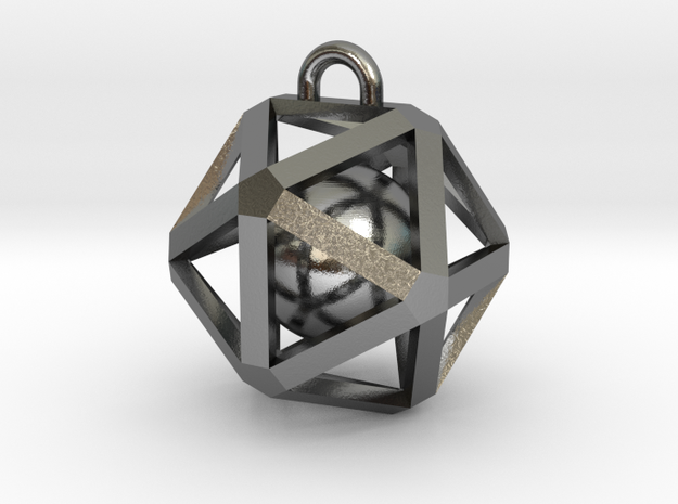 Caged Ball in Polished Silver (Interlocking Parts)