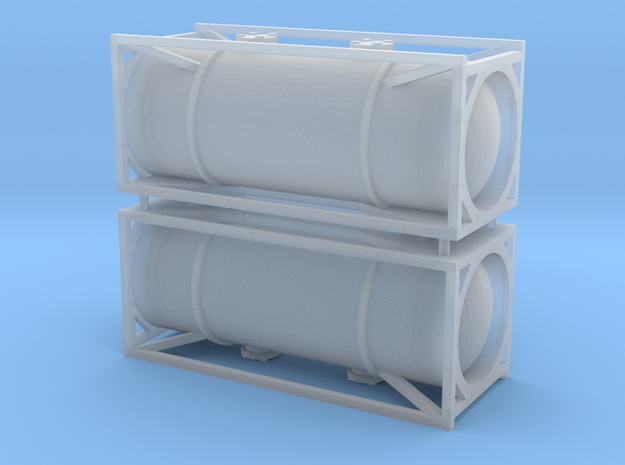 N Gauge 1:160 Generic 20Ft Tank Container in Smooth Fine Detail Plastic