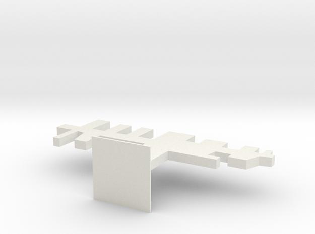 104105122hanger in White Natural Versatile Plastic