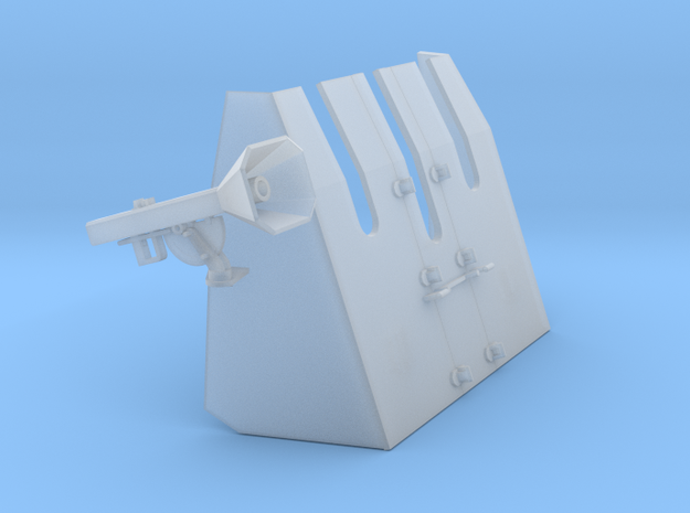 1 zu 72 37 mm Flak Shild 25122017 RL port side in Smooth Fine Detail Plastic