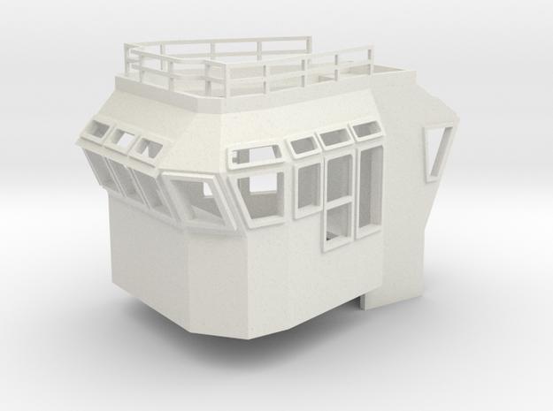 Bridge Superstructure 1/72 fits Harbor Tug in White Natural Versatile Plastic