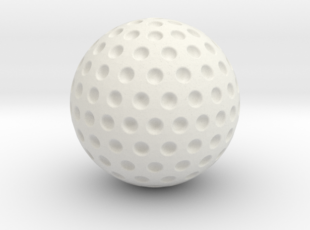 Sports golf ball in White Natural Versatile Plastic