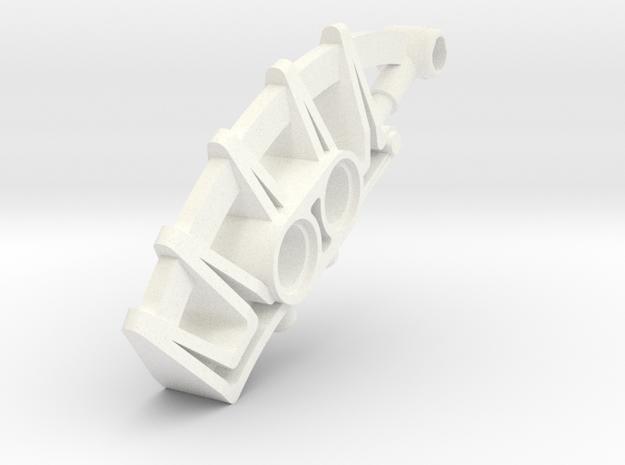 Towuru Mask Extension in White Processed Versatile Plastic
