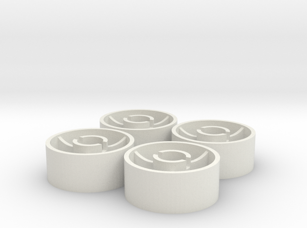 ass 4 jante avant D20 plat +0 in White Natural Versatile Plastic