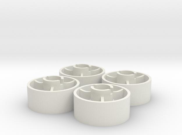 ass 4 jante avant D20 plat +2 in White Natural Versatile Plastic