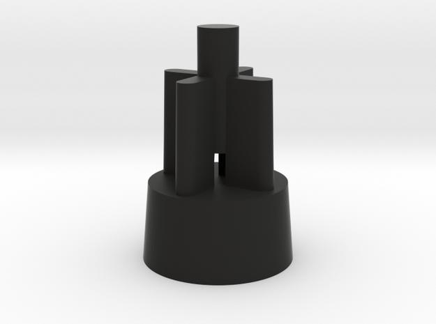DL18 Jabba Guard blaster scope tip in Black Natural Versatile Plastic